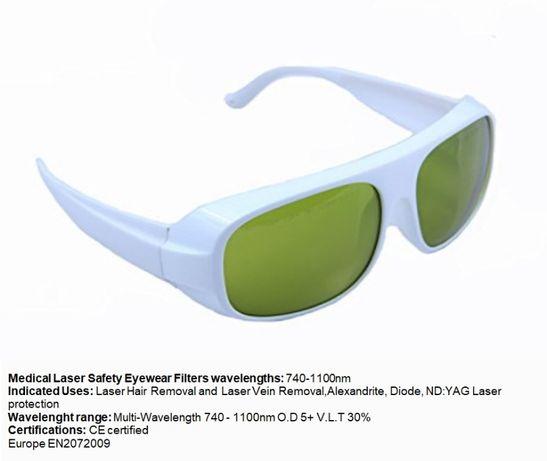 Oculos profissionais para protecção laser