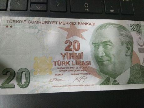 Nota de 20 LIRASI Turquia