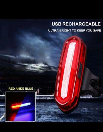 Задний USB велофонарь