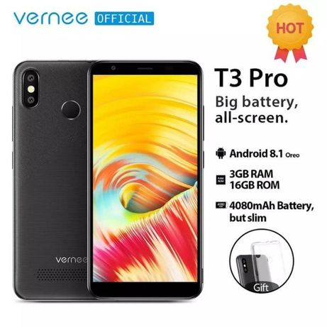 "Vernee T3 Pro •3/16 GB• 4100mAh, 5.5"", 4 core, Global Ver, Black Blue!"