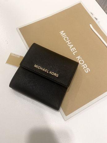 NOWY portfel MICHAEL KORS Czarny skórzany logowany oryginalny prezent