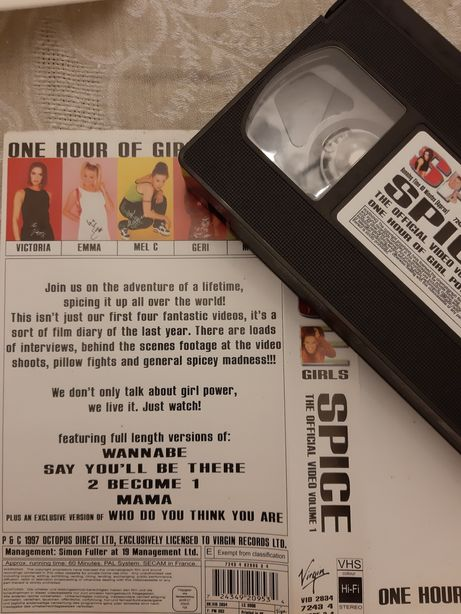 Cassete VHS Spice Girls