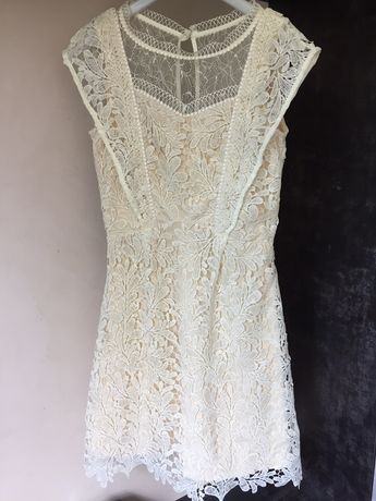 Sukienka koronkowa wesele Komunia xs