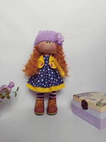 Кукла  текстильная Рыжулька