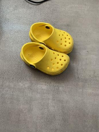 Oryginalne Crocs 21 22 żółte dziecięce