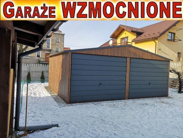Garaż,garaże blaszane 6x5,6x6 struktura drewna PRODUCENT niskie ceny