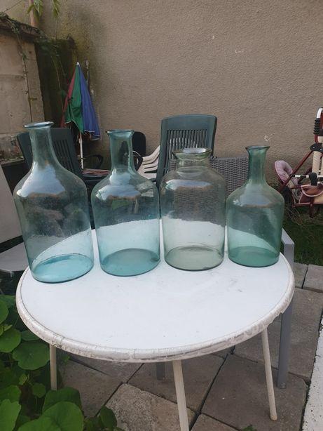Stara butla, butelka, słój, gąsior, Huta Niemen, XIXw