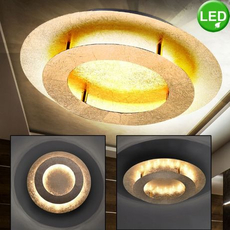 Złota lampa sufitowa plafon żyrandol PAUL NEUHAUS NEVIS 9620-12