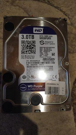 Жесткий диск, винчестер, HDD, WD Purple 3 Tb