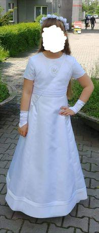 Sukienka komunijna brokat gratis torebka