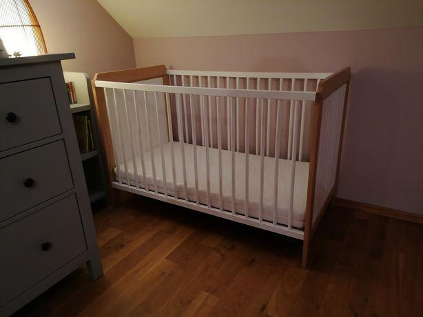 Łóżeczko Ikea Leksvik drewniane niemowlęce 60x120 scandi piękne