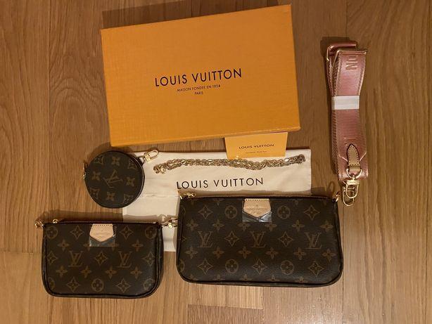 Trio Louis Vuitton Mala Multi Pochette Nova c/caixa