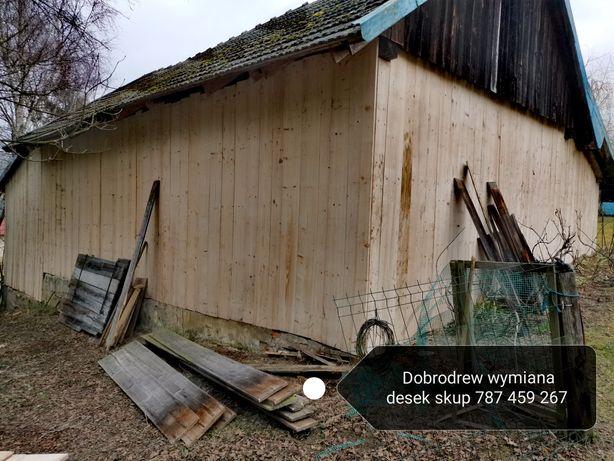 Rozbiórki stodół drewnianych  starego drewna deski belki ciosane