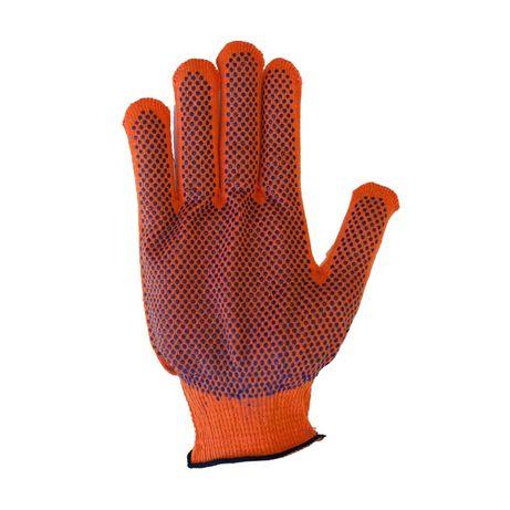 Рукавиці жіночі робочі оранжеві. Перчатки. 12 пар упаковка