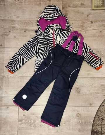 COOL CLUB Kombinezon zimowy ZEBRA kurtka spodnie r.116