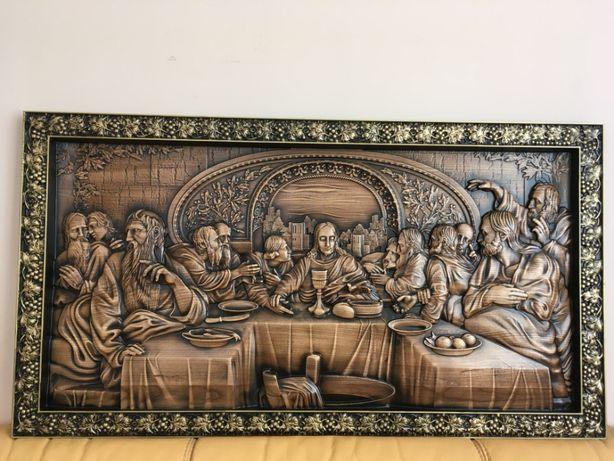 Картина з дерева, панно тайна вечеря