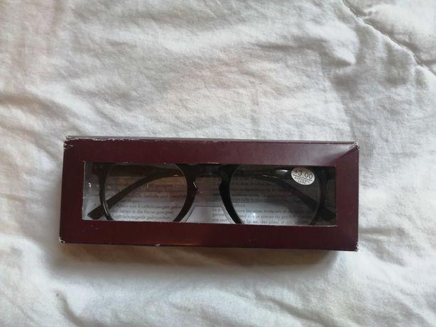 Okulary do czytania +3.00 piękne czarne oprawki