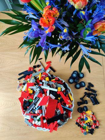 Duży zestaw, klocki LEGO figurki, koła, podstawki, gratisy