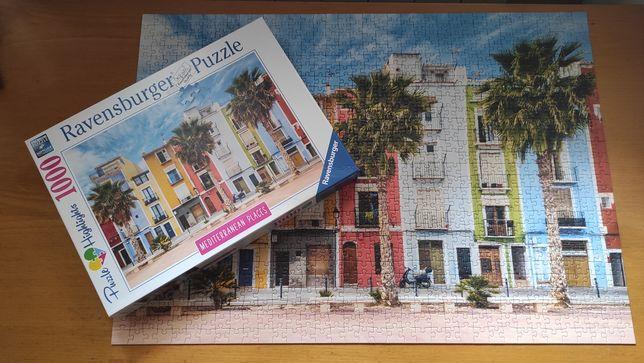 Puzzle 1000 Ravensburger   kompletne   Mediterranean Places