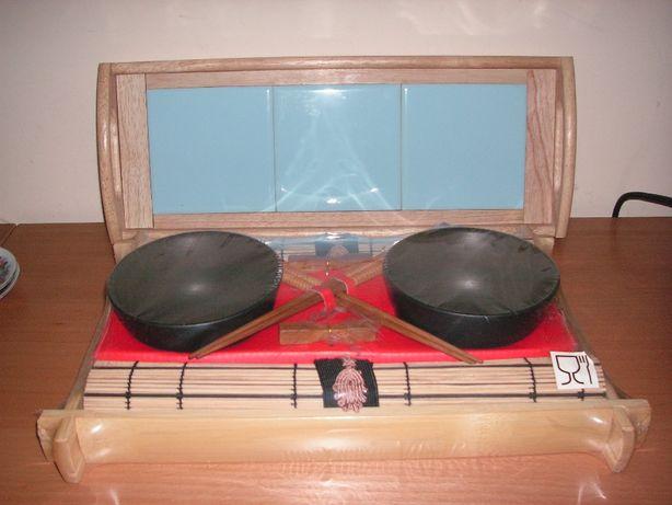 Tabuleiro em Bambú e Tabuleiro com Azulejo