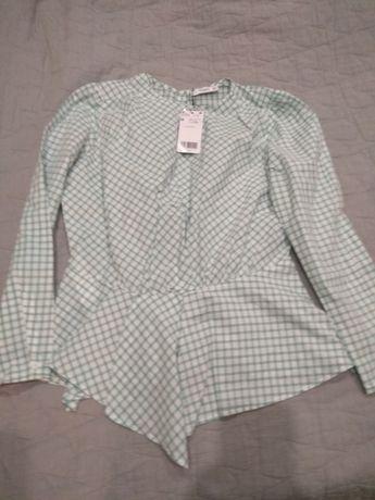 Bluzka w kratkę zielona Mango roz. 38