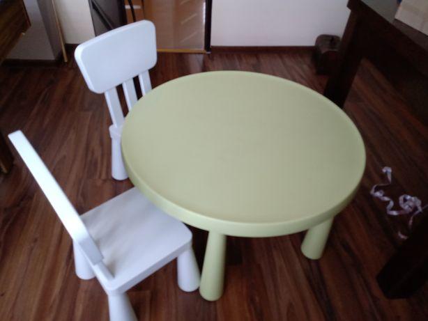 Zestaw mamut stolik 2 krzesełka