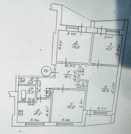 Продам 4х комнатную квартиру в 16ти этажном доме 4й этаж