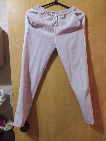 Костюмные брюки с лампасами на шнурке