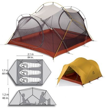 Палатка MSR Mutha Hubba 3 (yellow)