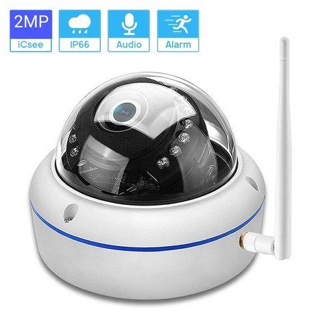 WI-FI, IP, антивандальная купольная металическая камера 2MP,5МР, SD.