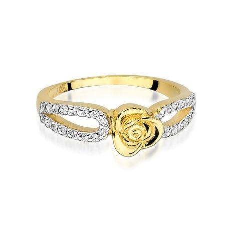 -20% !! Złoty pierścionek 585 z brylantami - Goldrun Chorzów