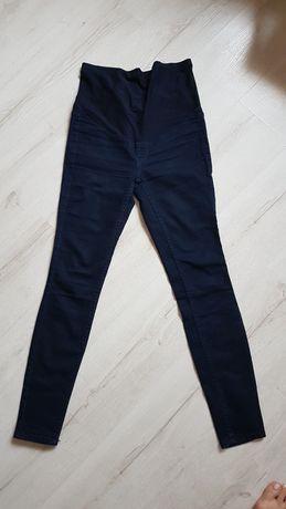 H&M mama spodnie jeansowe rurki jegginsy M 36-38 z pasem na brzuch