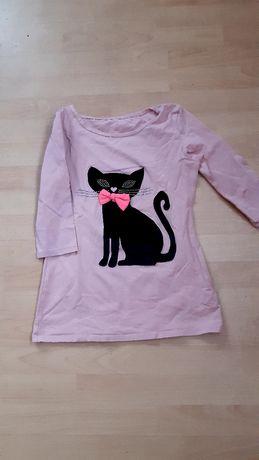 Bluzka w kotka różowa damska