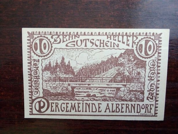 Banknot 10 heller Austria 1920