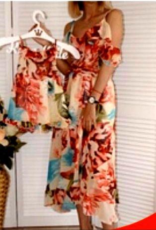 Платье  мама и дочка  фемили