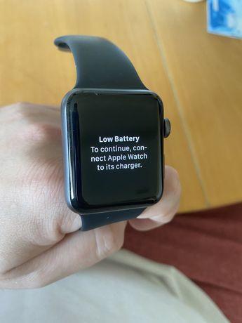 Apple Watch 3 42mm space gray sport band stan idealny gwarancja