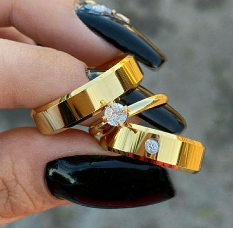 Pełna Elegancji Para Złotych Ślubnych Obrączek