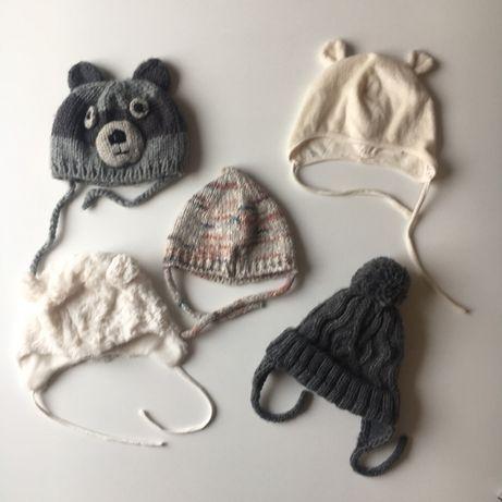 Czapka bonetka dla niemowlaka 62 68 1/6 miesiecy