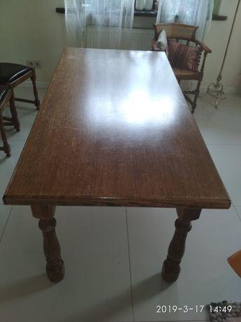 Stół masywny dąb 180 x 88 cm - do masażu, tańczenia i biesiadowania