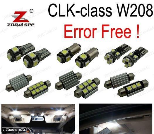 KIT COMPLETO DE 16 LÂMPADAS LED INTERIOR PARA MERCEDES BENZ CLK CLASE W208 CLK320 CLK430 CLK55 AMG