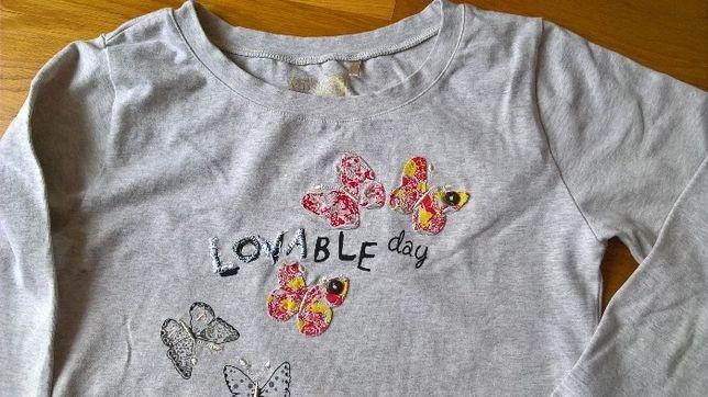Tania bluza 5-10-15, z motylkami, dla nastolatki, 152/158