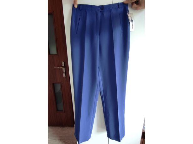 Eleganckie spodnie chabrowe