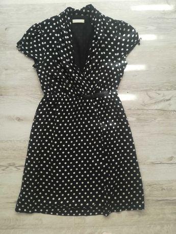 Sukienka czarna w kropki PROMOD