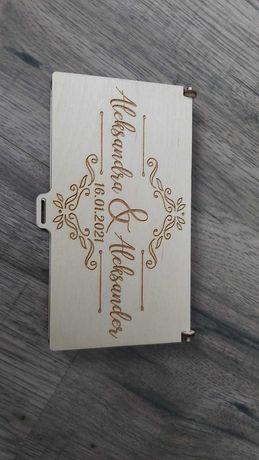 Personalizowane pudełko na pieniądze - prezent komunia, chrzest, ślub