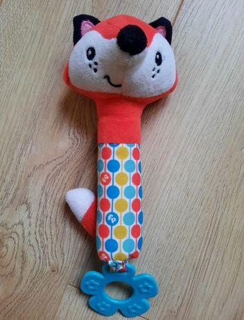 Пищалка погремушка игрушка Fisher Price Лисенок с прорезывателем