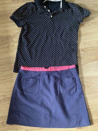 Komplet bluzka Spódniczka h&m 36 s