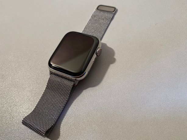 Apple Watch 5 Stainless Steel 44mm GPS + LTE Cellular bransoletka sreb