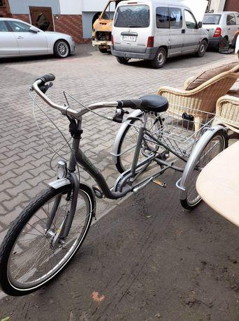 Rower 3kołowy z biegami w bardzo dobrym stanie