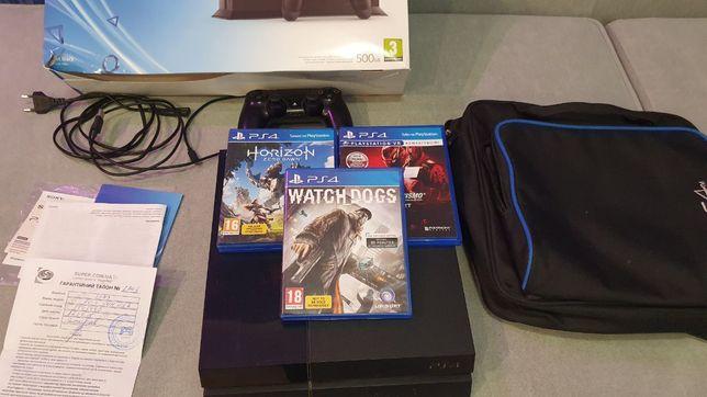 Sony PlayStation 4, 500GB + 3 игры + сумка в подарок