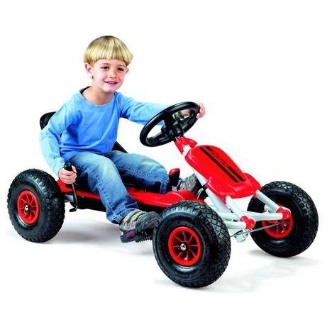 Carrinho a pedal - Kart com pneus de encher p/ crianças de 3 a 6 anos